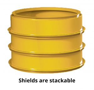 Image of stacked manhole shields