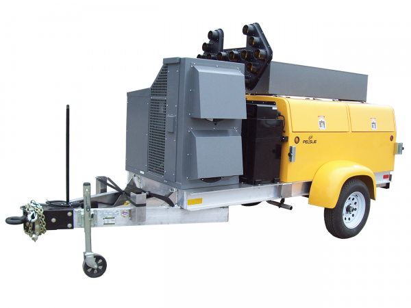 utility support trailer with A/C