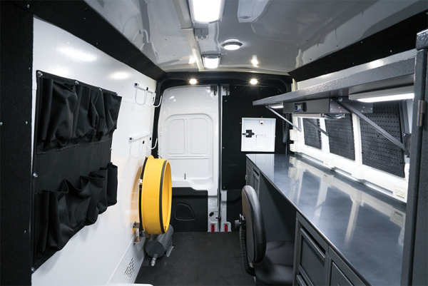 Picture of the Interior of the Van