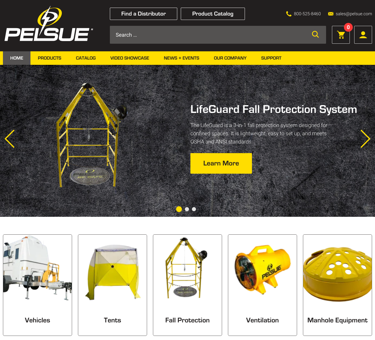 A view of Pelsue's new website