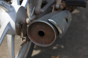Old exhaust pipe
