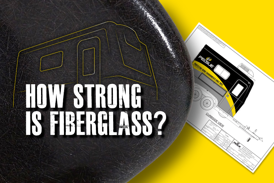 "Graphic with the caption ""How strong is fiberglass?"""