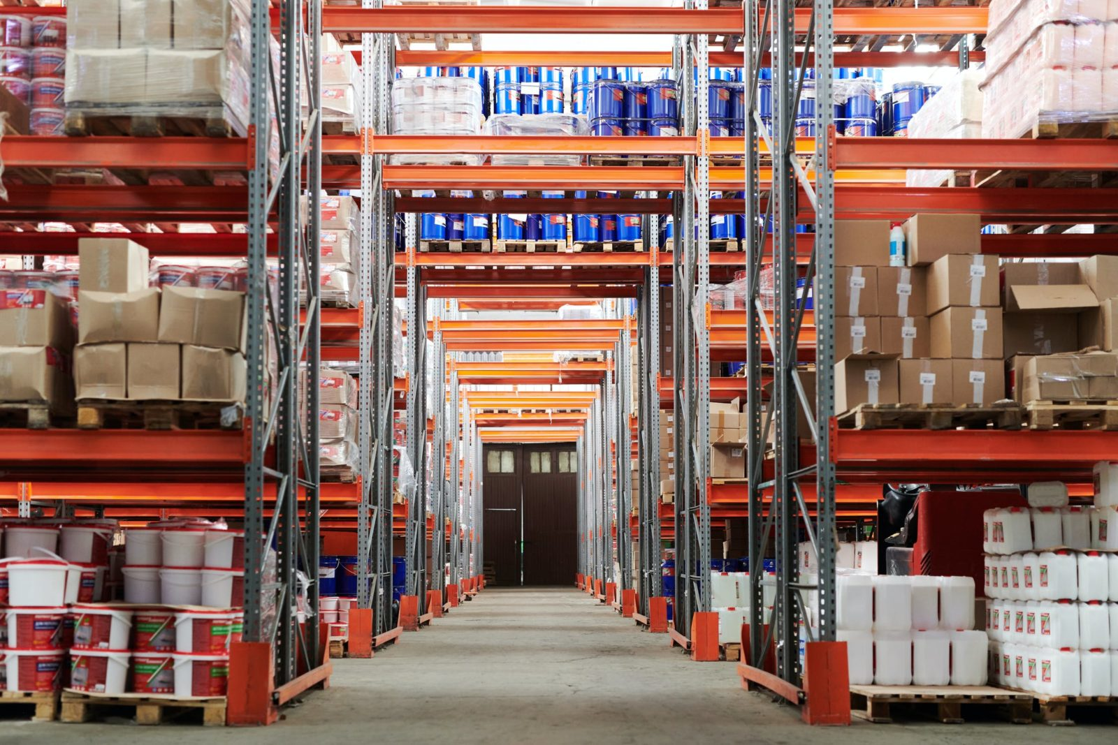 A stocked warehouse